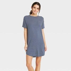 Women's Striped Short Sleeve Soft Nightgown